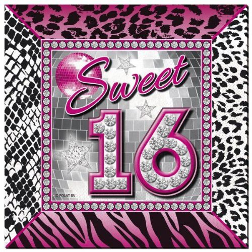 Sweet 16th Napkins 25x25cm 20s Gangster Mob 20s 30s